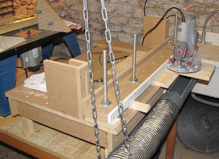 Fabriquer table de decoupe bois